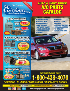 2015 Carolinas Auto Supply House AC Parts Catalog.