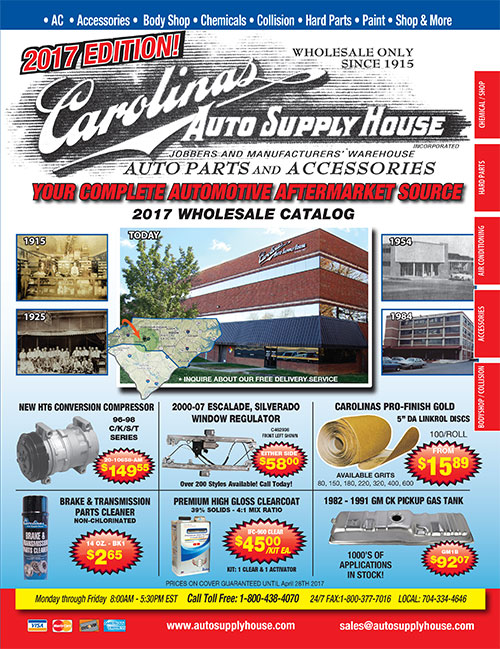 2017 Carolinas Auto Supply House - Automotive wholesale catalog